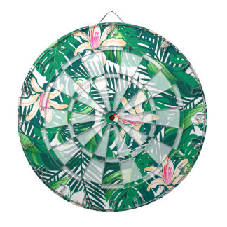 Green lush plants dartboard