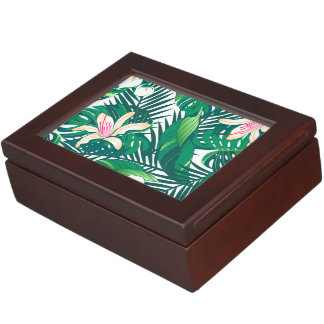Green lush plants keepsake box