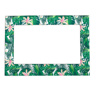 Green lush plants magnetic frame