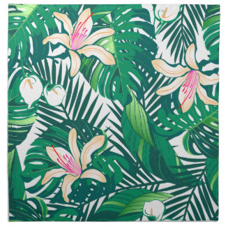 Green lush plants napkin