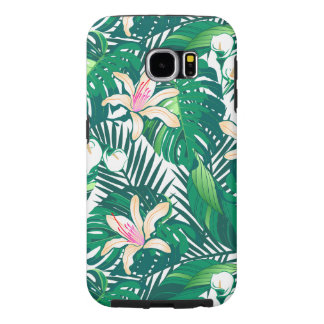 Green lush plants samsung galaxy s6 cases