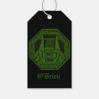Green Lyre Badge Gift Tags