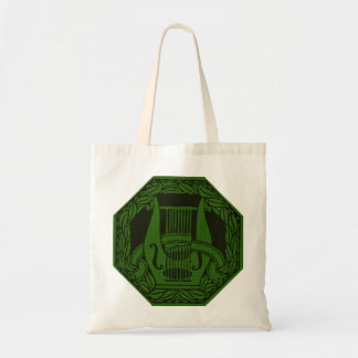 Green Lyre Badge Tote Bag