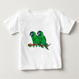 green macaw parrot love art baby T-Shirt