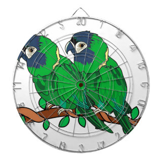 green macaw parrot love art dartboard