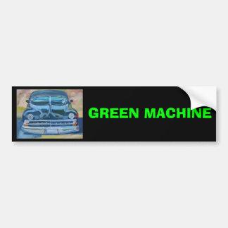 GREEN MACHINE - Bumper Sticker Car Bumper Sticker