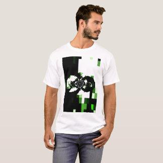 Green Machine Perspective Geometric Pattern T-Shirt