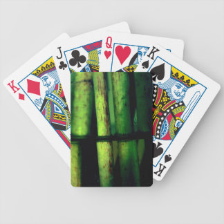 Green macro bicycle playing cards