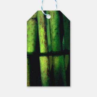 Green macro gift tags