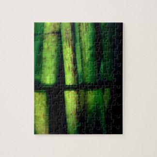 Green macro jigsaw puzzle