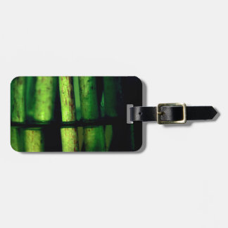 Green macro luggage tag
