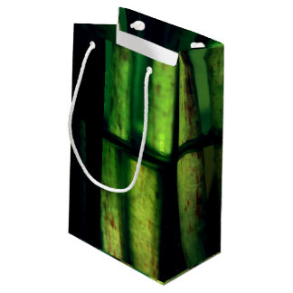 Green macro small gift bag