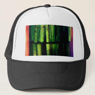 Green macro trucker hat