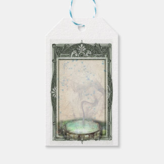 Green Magick Cauldron Tags for gifts & scrapbooks