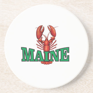green Maine lobster Coaster