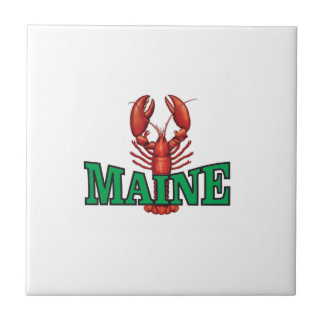 green Maine lobster Tile