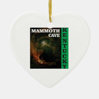 Green mammoth cave Kentucky Ceramic Ornament