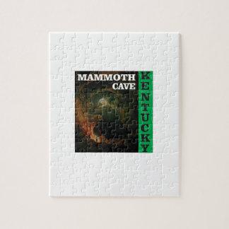 Green mammoth cave Kentucky Jigsaw Puzzle