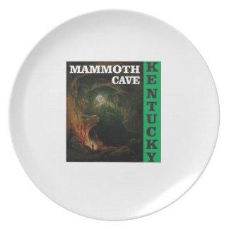 Green mammoth cave Kentucky Plate