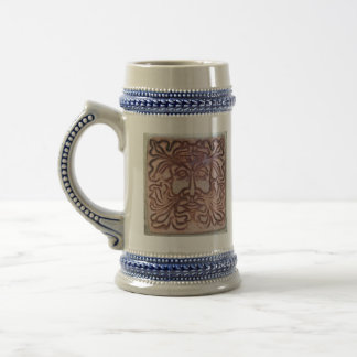 Green Man Beer Stein