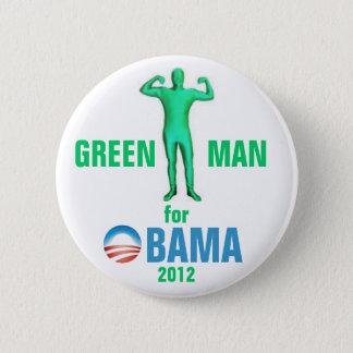 Green Man for Obama 2012 6 Cm Round Badge