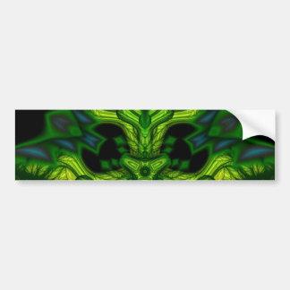 Green Man Goblin – Emerald and Gold Mask Bumper Sticker
