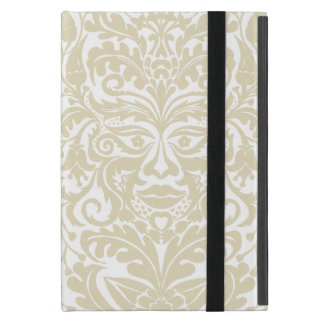 Green Man in natural white and stone Covers For iPad Mini