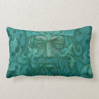 Green Man, pastel painting, fantasy art Lumbar Pillow