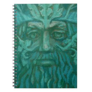 Green Man, pastel painting, fantasy art Notebooks