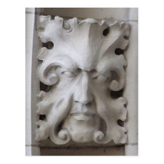Green Man Postcard - Canterbury