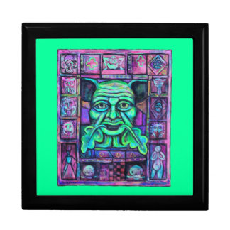 Green Man Tiled Gift Box