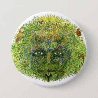 Green Man, WoodWose, Foliate Head, Pagan, Wiccan 7.5 Cm Round Badge
