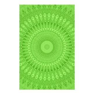 Green mandala 14 cm x 21.5 cm flyer