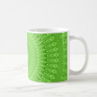 Green mandala coffee mug