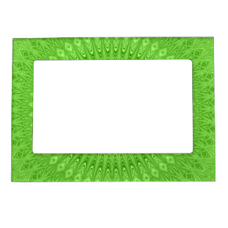 Green mandala magnetic picture frame