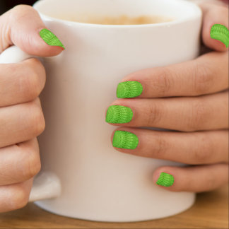 Green mandala nail sticker