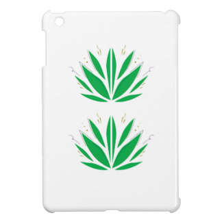 Green mandala  on white iPad mini cases