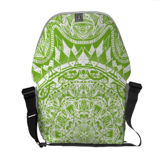 Green Mandala Pattern Courier Bag