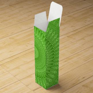 Green mandala wine box