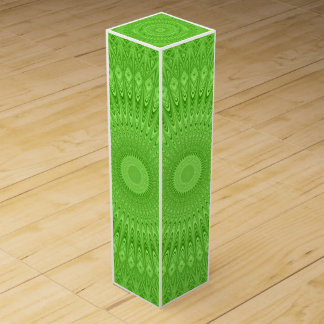 Green mandala wine gift box