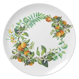 Green Mandarin Melamine Plate