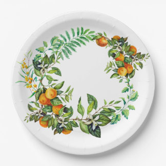 Green Mandarin Plates