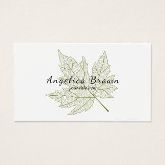 Green Maple Leaf Business Card