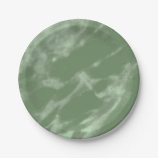 Green Marble 7 Inch Paper Plate