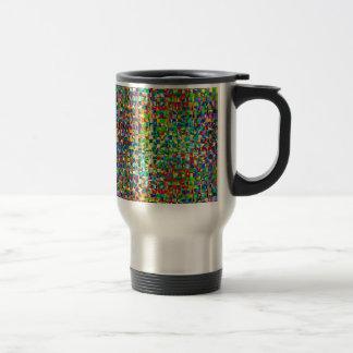 GREEN Marble Checks : Graphic Creation Travel Mug