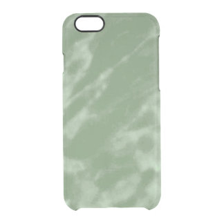 Green Marble Clear iPhone 6/6S Case
