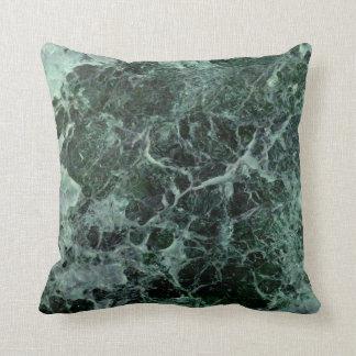 Green marble cushion