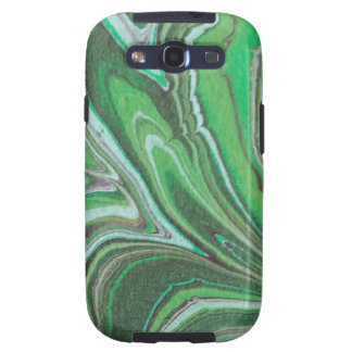 """""""Green Marble Pattern"""" Galaxy SIII Covers"""