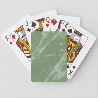 Green Marble Playing Cards