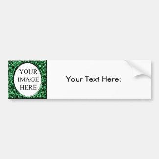 Green marble square frame template bumper sticker